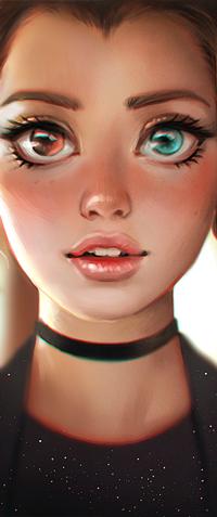 Аватар вконтакте Девушка с разноцветными глазами, by serafleur