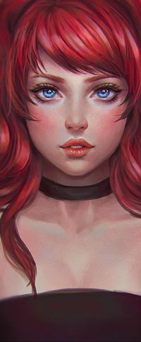 Аватар вконтакте Девушка с красными волосами, by serafleur