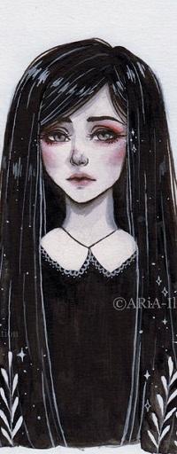 Аватар вконтакте Девушка с длинными волосами, by ARiA-Illustration