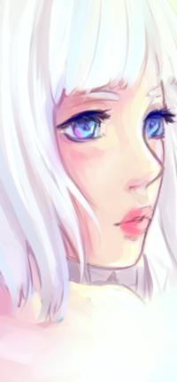 Аватар вконтакте Белокурая девушка в профиль, by Hiba-tan