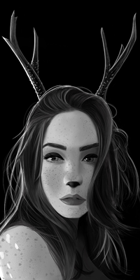 Аватар вконтакте Девушка с рожками, by Ciov-art