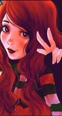 Аватар вконтакте Девушка показывает знак рукой