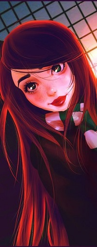 Аватар вконтакте Девушка с красными волосами