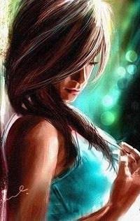 Аватар вконтакте Девушка опустила голову, художник Kiran Kumar