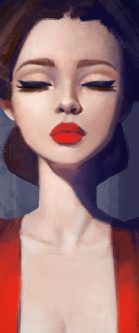 Аватар вконтакте Девушка с алыми губами, by Lagunaya