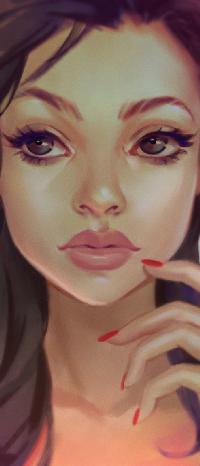 Аватар вконтакте Девушка с рукой у лица, by Lagunaya