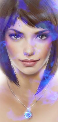 Аватар вконтакте Девушка на фоне синего дыма, by avvart