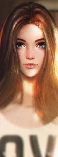 Аватар вконтакте Светловолосая девушка, by Liang-Xing