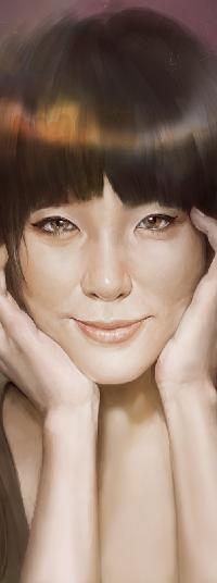 Аватар вконтакте Девушка с руками у лица, by TheRafa