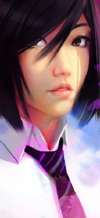 Аватар вконтакте Темноволосая девушка в белой рубашке и галстуке, by SourAcid