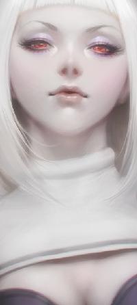 Аватар вконтакте Белокурая девушка с алыми глазами, by Artgerm