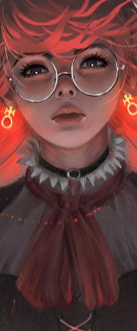 99px.ru аватар Девушка в очках с блестящими сережками в ушах, by A1AYNE