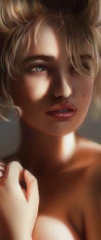 Аватар вконтакте Светловолосая и голубоглазая девушка, by myjerart