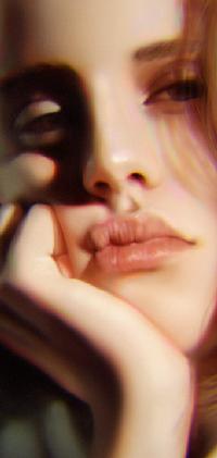 99px.ru аватар Девушка с рукой у лица, by myjerart