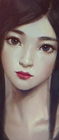 Аватар вконтакте Темноволосая азиатская девушка, by Zeronis