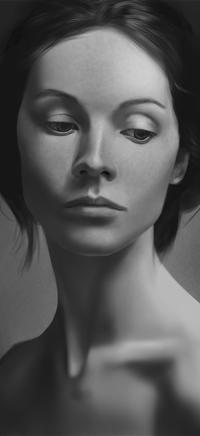Аватар вконтакте Черно-белый портрет девушки, by MgcUsr
