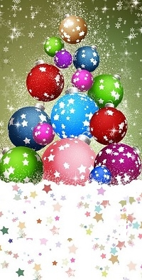 Аватар вконтакте Новогодние шарики выложены так, что напоминают елку