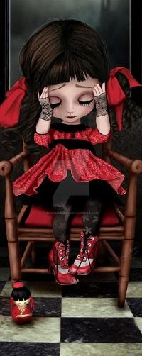 Аватар вконтакте Девочка - кукла сидит на деревянном стульчике, by Energiaelca1