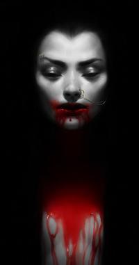 Аватар вконтакте Девушка с кровью на губах и теле, by thienbao