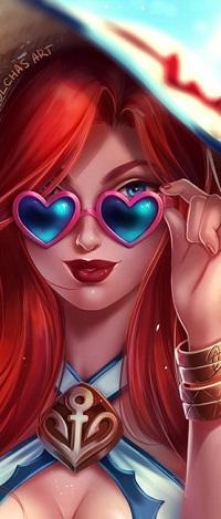 Аватар вконтакте Девушка в очках в форме сердечек