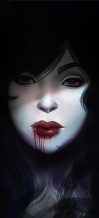 Аватар вконтакте Девушка с кровью на губах, by Amanda-Kihlstrom