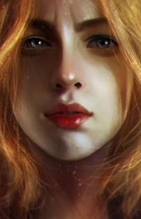 Аватар вконтакте Рыжеволосая девушка с серыми глазами, by Razaras