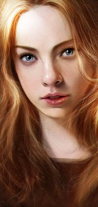 Аватар вконтакте Светловолосая и голубоглазая девушка, by Razaras