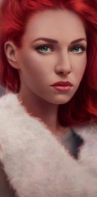 Аватар вконтакте Девушка с красными волосами, by AngelGanev
