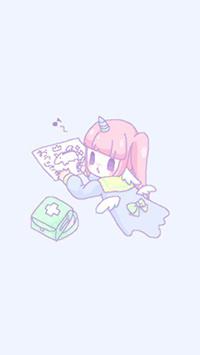 Аватар вконтакте Девочка-единорожка Melty Melco рисует