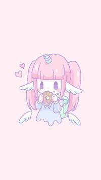 Аватар вконтакте Девочка-единорожка Melty Melco кушает пончик