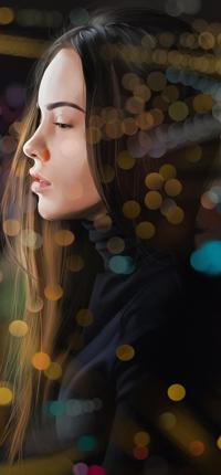 Аватар вконтакте Темноволосая девушка в бликах, by Mayank94214