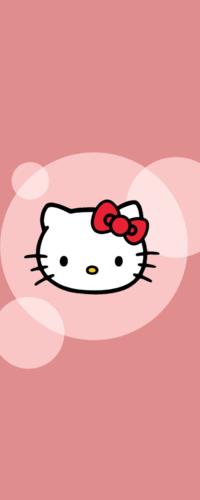 Аватар вконтакте Мордочка кошечки Hello Kitty / Хэлло Китти на розовом фоне