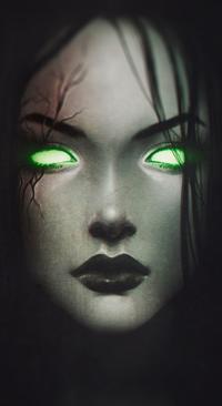Аватар вконтакте Темноволосая девушка со шрамом и зелеными глазами, by z-a-i-n-a