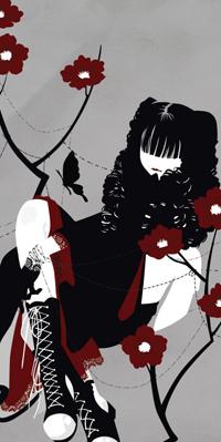 Аватар вконтакте Девушка сидит в окружении цветов