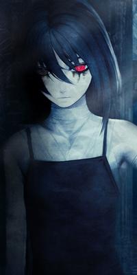 Аватар вконтакте Девушка с красным глазом, by Ryo Iwai