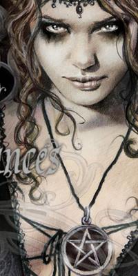 99px.ru аватар Девушка с пентаграммой на груди, by Victoria Frances