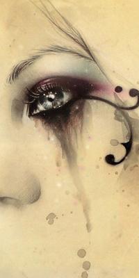 Аватар вконтакте Глаз плачущей девушки, by Victoria Frances