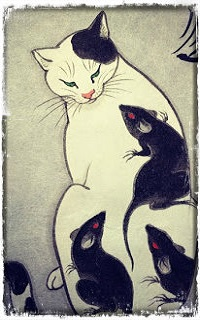 Аватар вконтакте Кошка окруженная крысами, by emynekomimi