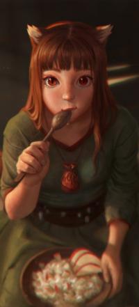Аватар вконтакте Horo / Хоро из аниме Spice and Wolf / Волчица и пряности, by MorRein
