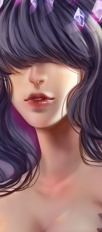 Аватар вконтакте Темноволосая девушка с кристаллами в волосах, by MikiTakamoto