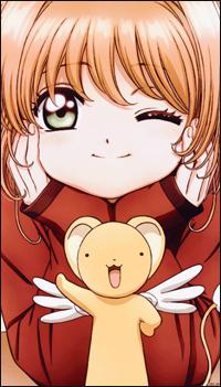 Аватар вконтакте Сакура Киномото / Sakura Kinomoto и Кероберос / Keroberos из аниме Сакура — собирательница карт: Прозрачные карты / Cardcaptor Sakura: Clear Card-hen