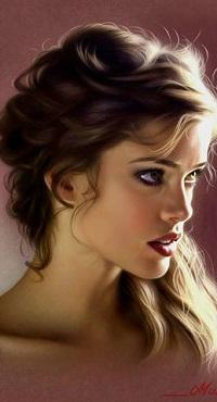 Аватар вконтакте Портрет красивой девушки, художник Musa Celik