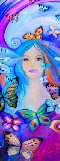Аватар вконтакте Девушка в окружении бабочек, by Ines Honfi