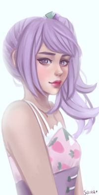 Аватар вконтакте Девушка с сиреневыми волосами, by Suikacchii