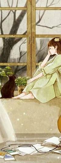 Аватар вконтакте Девочка с кошкой у окна