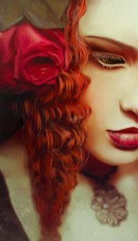 Аватар вконтакте Девушка с розами на волосах, by LoranDeSore