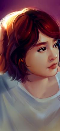 Аватар вконтакте Рыжеволосая девушка смотрит в сторону, by superschool48