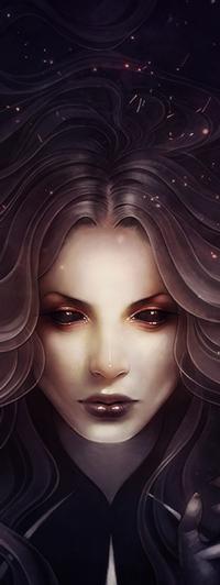 Аватар вконтакте Длинноволосая девушка с темными глазами, by escume