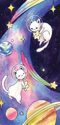 Аватар вконтакте Двое котиков в открытом космосе