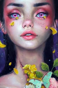 Аватар вконтакте У девушки из глаз падают желтые лепестки